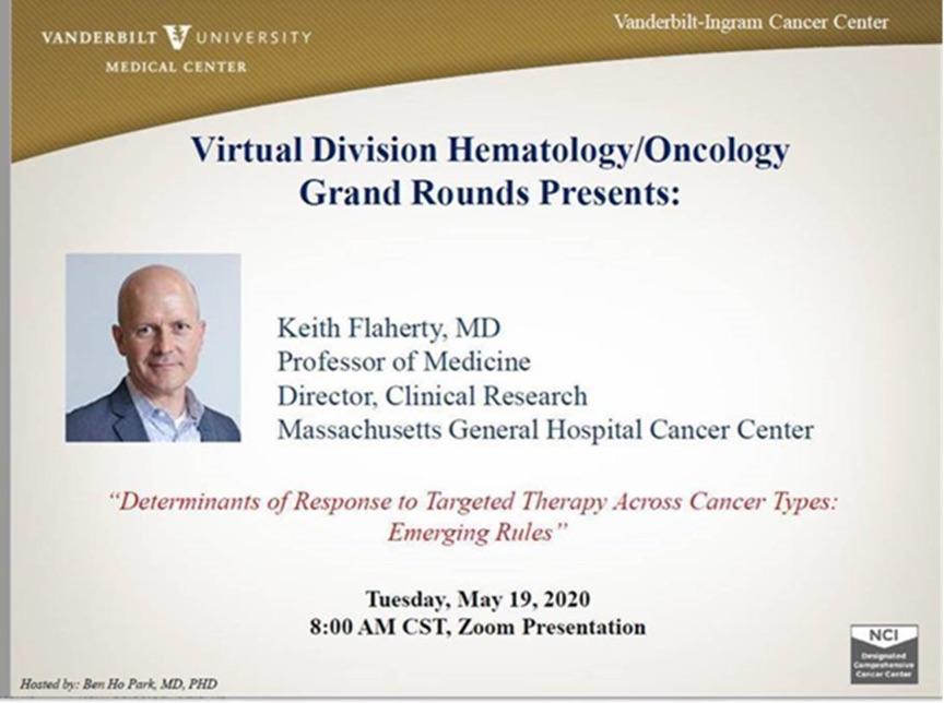 Keith Flaherty Virtual Seminar