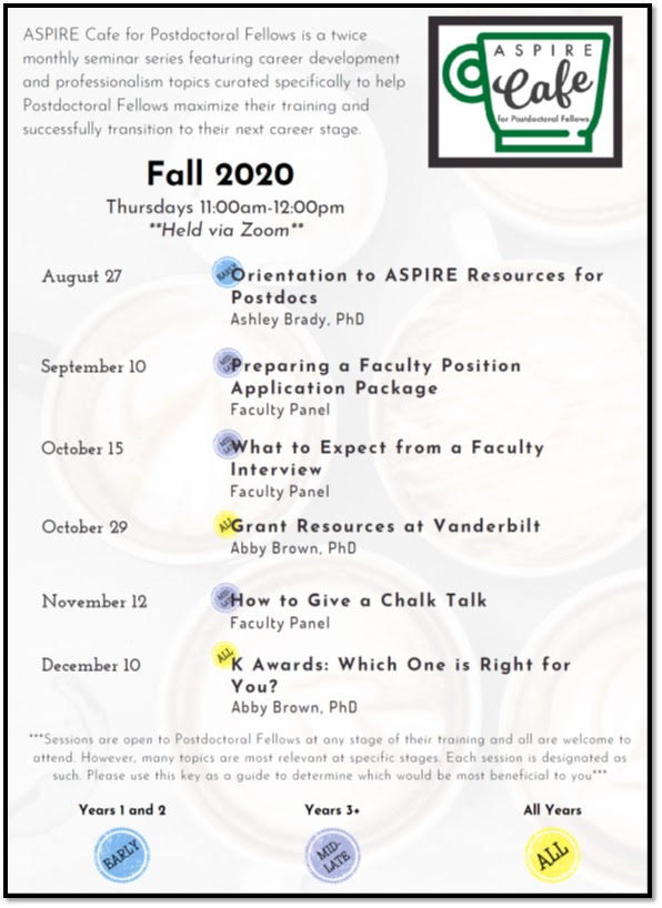 ASPIRE for PostDoctoral Fellows