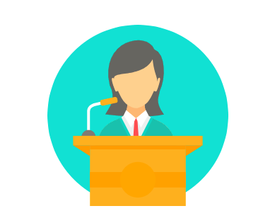 female speaker icon