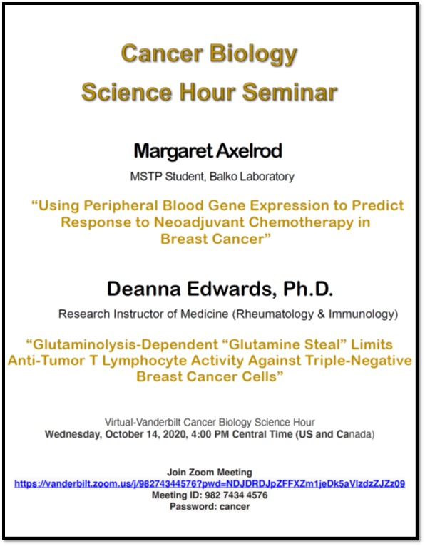 Cancer Biology Science Hour Seminar