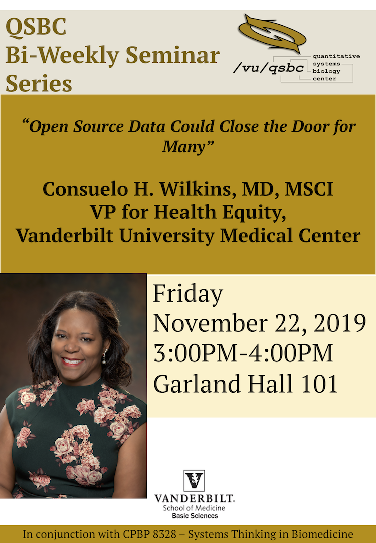Consuelo Wilkins | November 22, 2019 Seminar Flyer